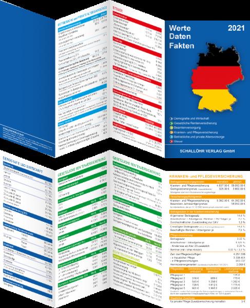 """Faltblatt """"Werte-Daten-Fakten 2. Halbjahr 2021"""""""
