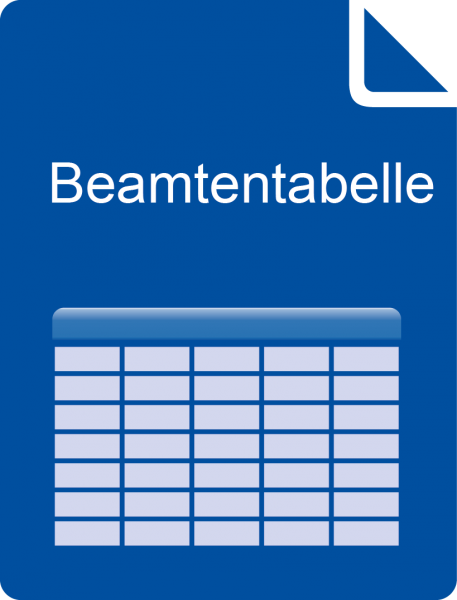 E-Book Beamtenversorgungstabelle